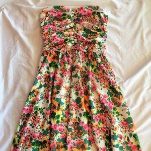 O'Neill Floral Strapless Dress